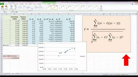 calculate  correlation coefficient   excel  youtube