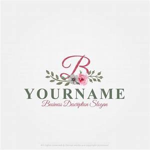 online free logo maker vintage flowers logo design With fashion logo design maker