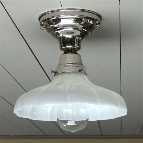 vintage antique style flush mount polished nickel