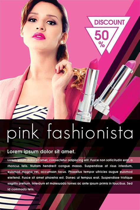 cosmetic flyers  psd ai eps format