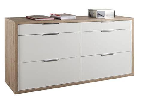 caissons de cuisine commode 6 tiroirs grazia chene clair blanc brillant