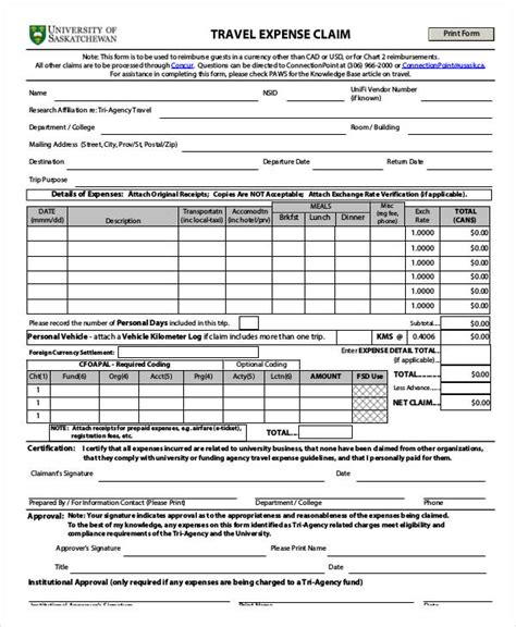 claim form templates   excel ms word
