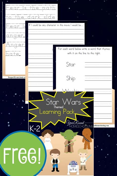 star wars themed   learning pack year