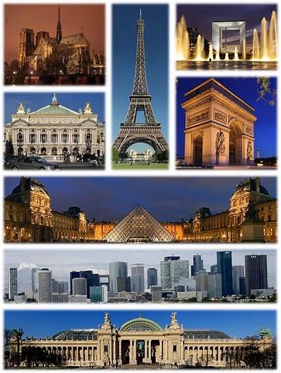 Paris Mundo Francia Maravillas Collage Paises Importantes