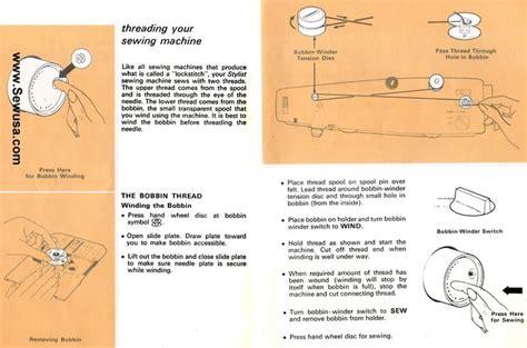 Singer Stylist Sewing Machine Threading Diagram Tips