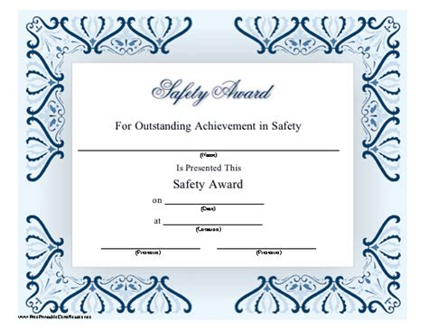 Safety Certificate Template by Safety Award Certificate Template 28 Images Safety