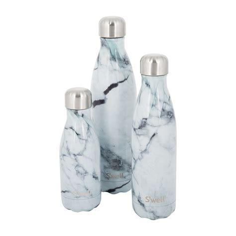 1658 white marble swell bottle buy s well the element bottle white marble amara