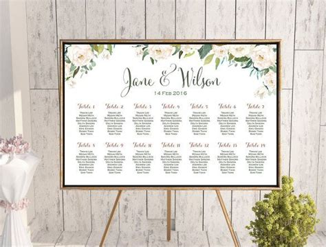 wedding seating chart template  examples   word