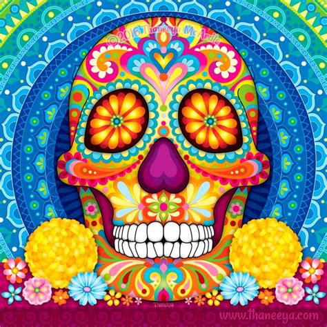 day of the dead a gallery of colorful skull