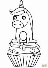 Colorear Dibujos Cupcake Unicornio Unicorn Coloring Gratis sketch template