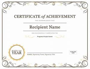 certificate of achievement With certificate of accomplishment template