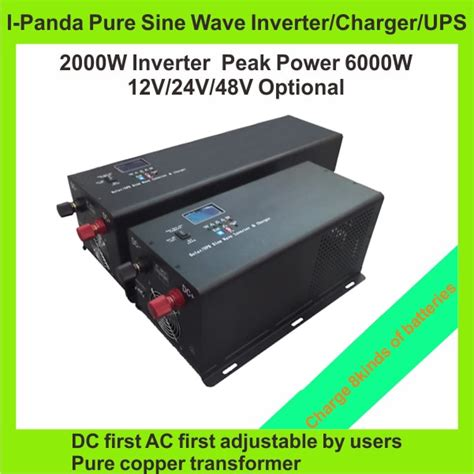 lcd led display sine wave combined inverter and