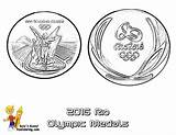 Medal Coloring Rio Olympic Pages Olympics Medals Printable Yescoloring Mascot sketch template