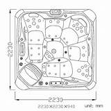 Tub Drawing Spa Jacuzzi Tubs Seats Getdrawings sketch template