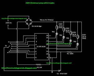 Free Circuit Diagrams 4u  230 V Christmas Lamp With 8 Modes