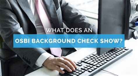 Oklahoma Background Check What Does An Osbi Background Check Show