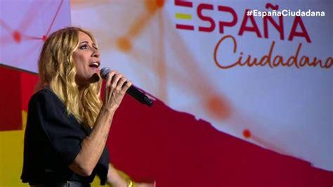 VÍDEO: Marta Sánchez canta muy emocionada su versión del