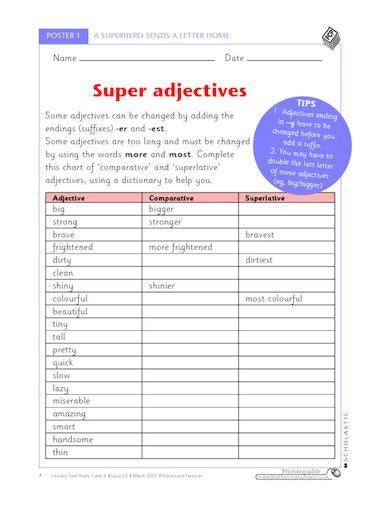 adjectives comparative and superlative adjectives