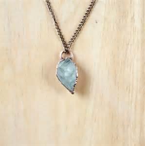 Aquamarine Raw Stone Necklace