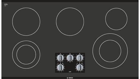 series  knob control electric cooktop nemuc black frameless  appliances