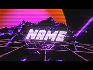 Youtube Banner Art Template Free Vaporwave Intro Template 993 Blender Tutorial
