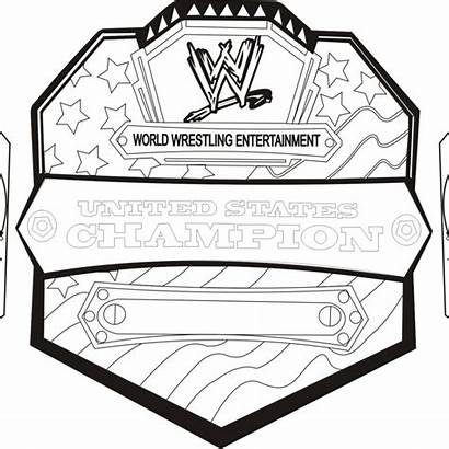 Wwe Championship Drawing Belts Title Coloring Pages
