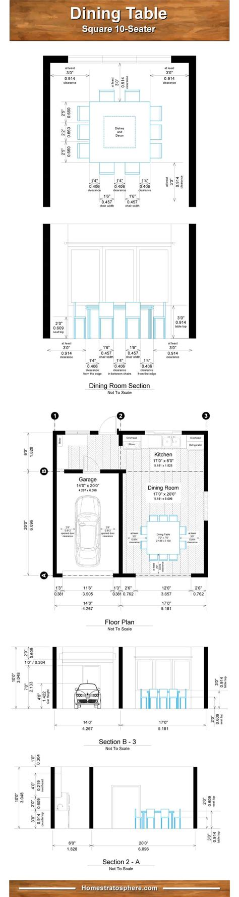 Here are some helpful tools to make sure 10 seater dining table dimensions. Proper Dining Room Table Dimensions for 4, 6, 8, 10 and 12 People (Charts)