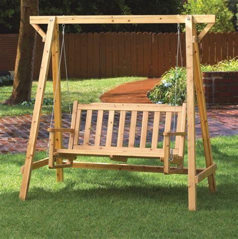 Ausgelesene Holzschaukel Designs Für Ihre Gartengestaltung