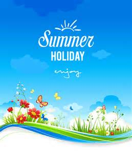 summer holidays background vector free vector graphic