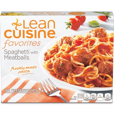 lea cuisine spaghetti and meatballs calories