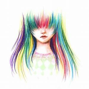 girl with rainbow hair drawing | Clipart Panda - Free ...