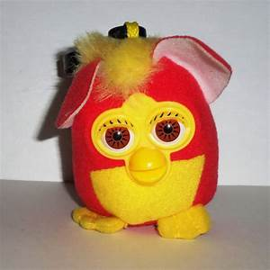 McDonald's 2000 Furby Fox with Clip Happy Meal Toy Loose Used