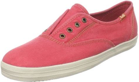 not shabby keds keds womens not too shabby laceless slip on fashion sneaker in pink coral lyst