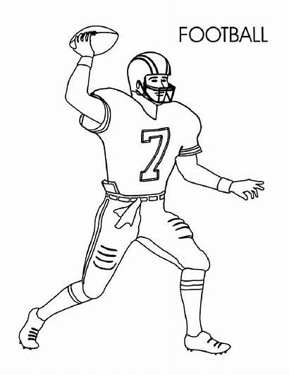 Football Coloring Player Via Preschoolers Activity