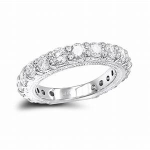 14K Gold Unique Diamond Wedding Band for Women 1.91ct by ...