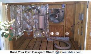 Generator Shed Enclosure Exhaust Fan Setup  In 2019