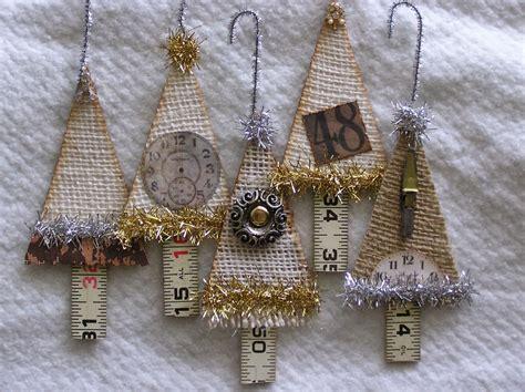 rag rescue vintage fabric christmas tree hangers
