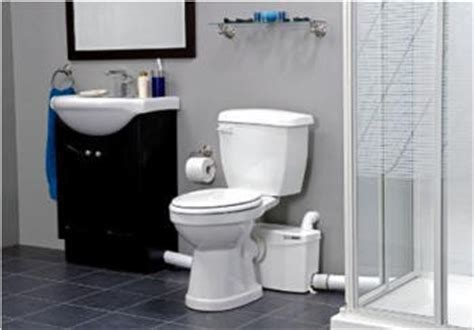 Basement Pump Up Toilet by Install A Complete Bathroom Anywhere With Saniflo Products
