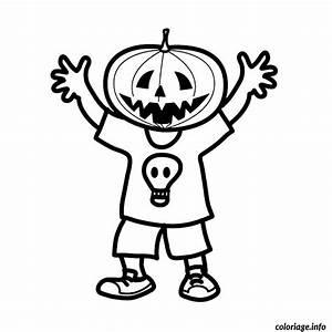 Tete De Citrouille Pour Halloween : coloriage enfant tete de citrouille dessin ~ Melissatoandfro.com Idées de Décoration