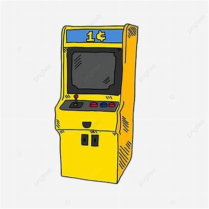 Cartoon Machine Clipart Arcade Cabinet Toy Clip