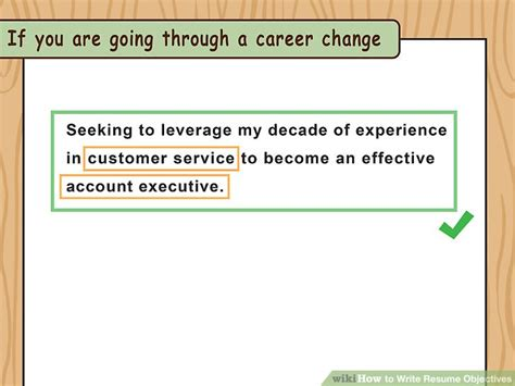How To Write A Resume Objective by How To Write Resume Objectives With Exles Wikihow