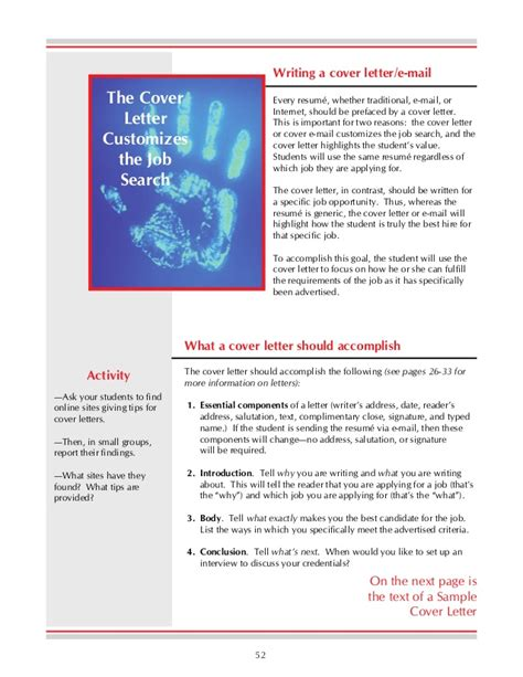 Essential Resume Components by Essential Components Of A Cover Letter