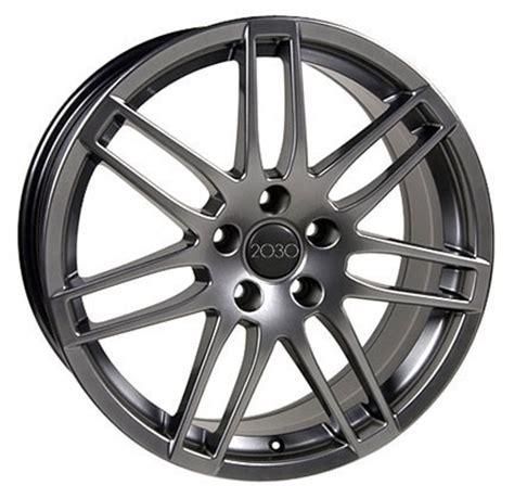 audi rs wheels hyper silver  set