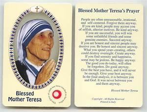 Blessed Mother Teresa Prayer Cards | Mother Teresa ...
