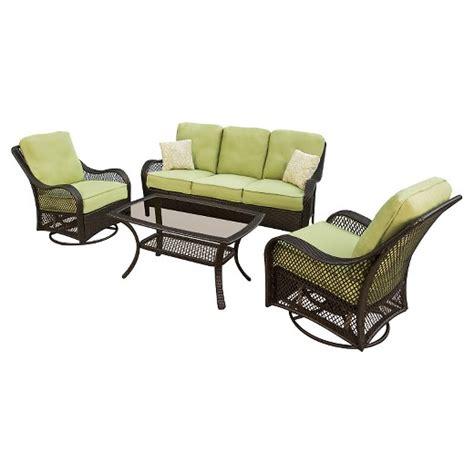 orleans 4 wicker patio conversation furniture set