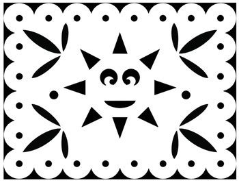 papel picado coloring sheets  cinco de mayo   mexican holidays