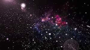 3D Animation Of Galaxy And Nebula With Shining Star Light ...