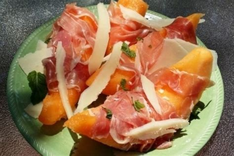 prosciutto wrapped melon  parmesan shavings recipe
