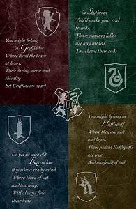 Hogwarts House Poster - 11 x 17 Glossy Cardstock - Unisex ...