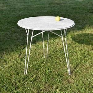 Table De Jardin Fer : mobilier de jardin vintage ~ Nature-et-papiers.com Idées de Décoration